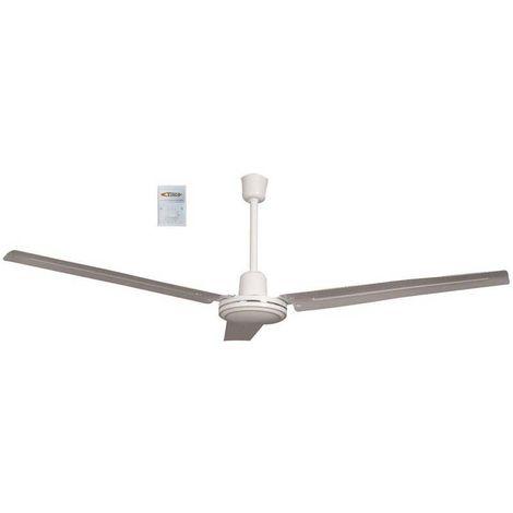 Vinco ventilatore da a soffitto industriale 3 pale Ø 140cm 55w comando a muro