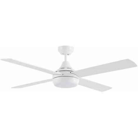 Vincular el ventilador DC blanco con la luz LED MARTEC FSLDC1243WR - Blanco