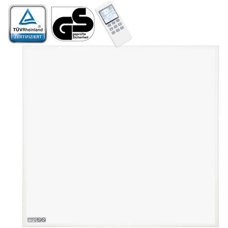 VINGO 300 Watt Infrarotheizung mit Thermostat Ultraflach Heizpaneel IP54 Heizbild ultraflache Heizpaneel
