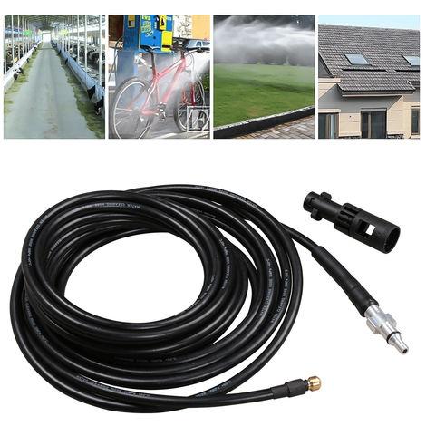 VINGO tuyau de nettoyage de tuyau 180bar 60 ° C kit de nettoyage de tuyau pour Kärcher connexion nettoyeur de tuyau à baïonnette avec adaptateur