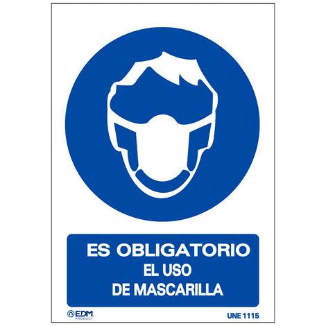 VINILO OBLIGATORIO USO MASCARILLA 150X200MM - NEOFERR