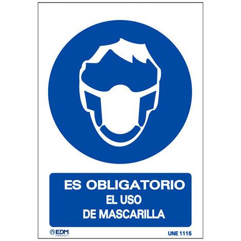 VINILO OBLIGATORIO USO MASCARILLA 210X300MM - NEOFERR