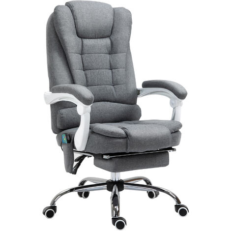 """main image of """"Vinsetto 6 Point Massage Office Chair Computer Swivel Rolling Task Chair w/ Footrest"""""""