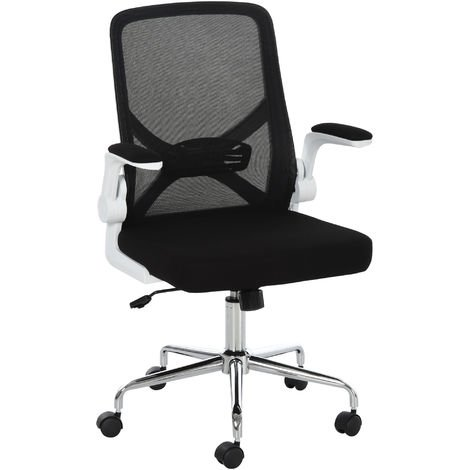 Vinsetto Folding Back Office Chair Compact Lifting Arms Mesh Cushion Mesh Seat