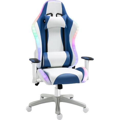 Vinsetto Gaming Chair Reclining w/ LED Light Bluetooth Speaker Height Adjustable