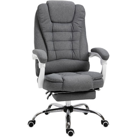 """main image of """"Vinsetto Large Padded Office Chair w/ Footrest Height Adjustable Ergonomic"""""""