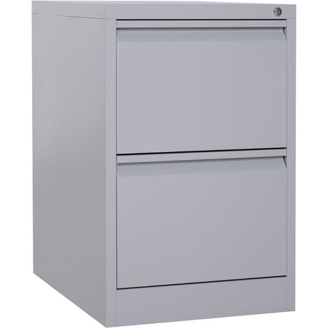Fine Vinsetto Lockable Steel Office Filing Cabinet 2 Drawers Download Free Architecture Designs Embacsunscenecom