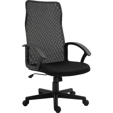 Vinsetto Longline Mesh Back Office Chair Swivel Ergonomic Adjustable Height