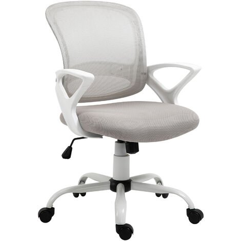 Vinsetto Mesh Office Chair Swivel Seat Task Computer Chair w/ Lumbar Back Support