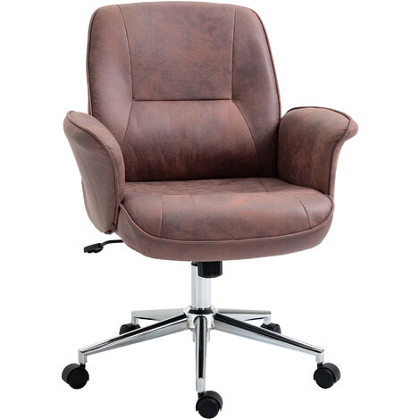 """main image of """"Vinsetto Swivel Computer Office Chair Mid Back Desk Chair for Home Study Bedroom, Red"""""""