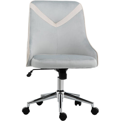 Vinsetto Velvet-Feel Armless Home Office Leisure Chair w/ Padded Seat Beige