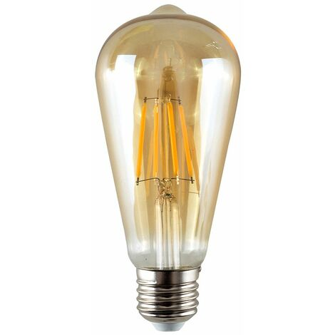 Vintage 4W LED Dimmable ES E27 Amber Light Bulb