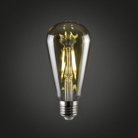 Vintage 4W LED Dimmable ES E27 Amber Light Bulb -Pack of 3 - Amber