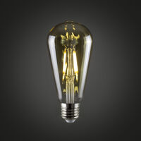 Vintage 4w LED Dimmable ES E27 Amber Squirrel Cage Light Bulb - 2700K Warm White