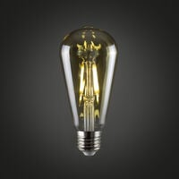 Vintage 4w LED Dimmable ES E27 Amber Squirrel Cage Light Bulb - Warm White