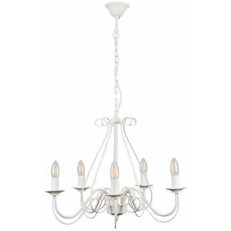 Vintage 5 Way Ceiling Light Chandelier