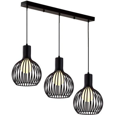 Vintage Adjustable Pendant Light 3 Lights Retro Industrial Ceiling Lamp Creative Lantern Chandelier E27 Socket Loft Walkway Dining Room