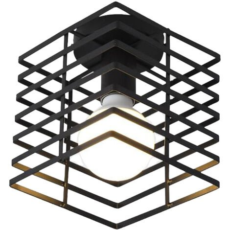 """main image of """"Vintage Antique Ceiling Light Black Metal Cage Chandelier E27 Iron Ceiling Lamp Industrial Retro Ceiling Lamp for Bedroom Living Room Dining Room"""""""
