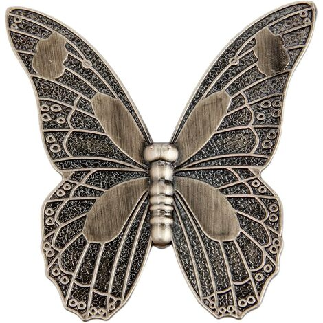 """main image of """"Vintage butterfly shaped cupboard door knobs"""""""