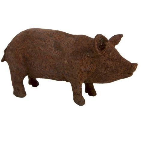Vintage Cast Iron Piglet Sculpture