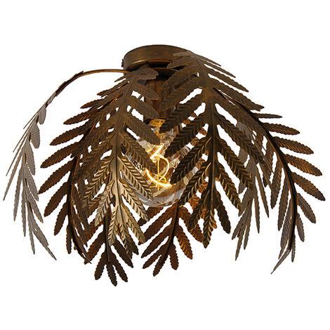 Vintage ceiling lamp gold 34 cm - Botanica