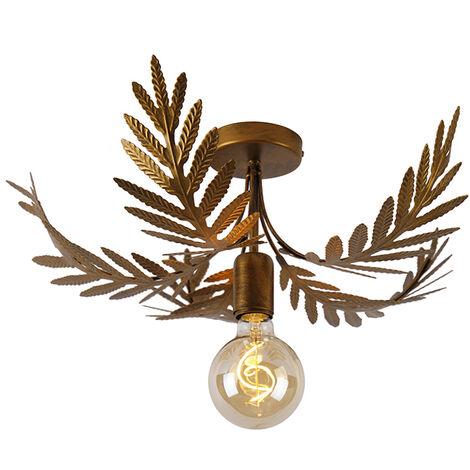 "main image of ""Vintage ceiling lamp gold 46 cm - Botanica"""