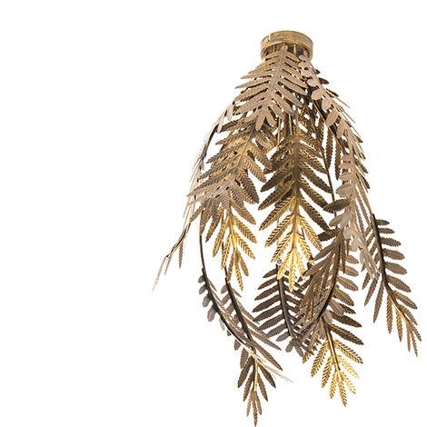 Vintage Ceiling Lamp Leaf Gold - Botanica