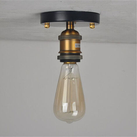 Vintage Chandelier Retro Industrial Ceiling Light E27 Simple Ceiling Lamp for Living Room Bedroom Hallway