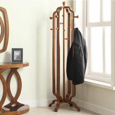 Vintage Coat Rack Free Standing Furniture Large Hallway