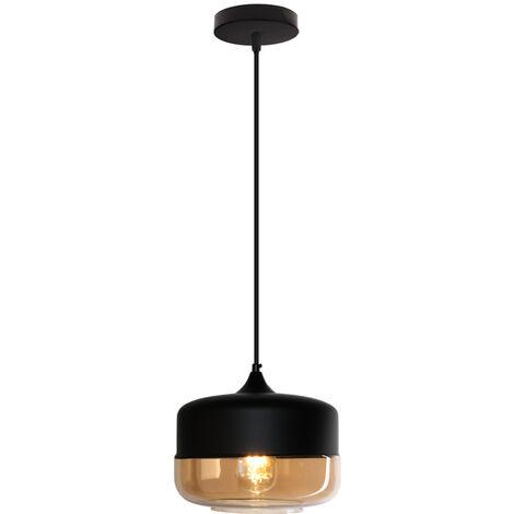 """main image of """"Vintage crystal pendant light, bedroom living room adjustable chandelier E27 - Brown"""""""