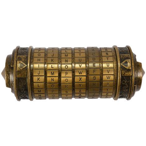 Vintage cuivre Da Vinci Code serrure cylindre cadeau Saint Valentin Bronze