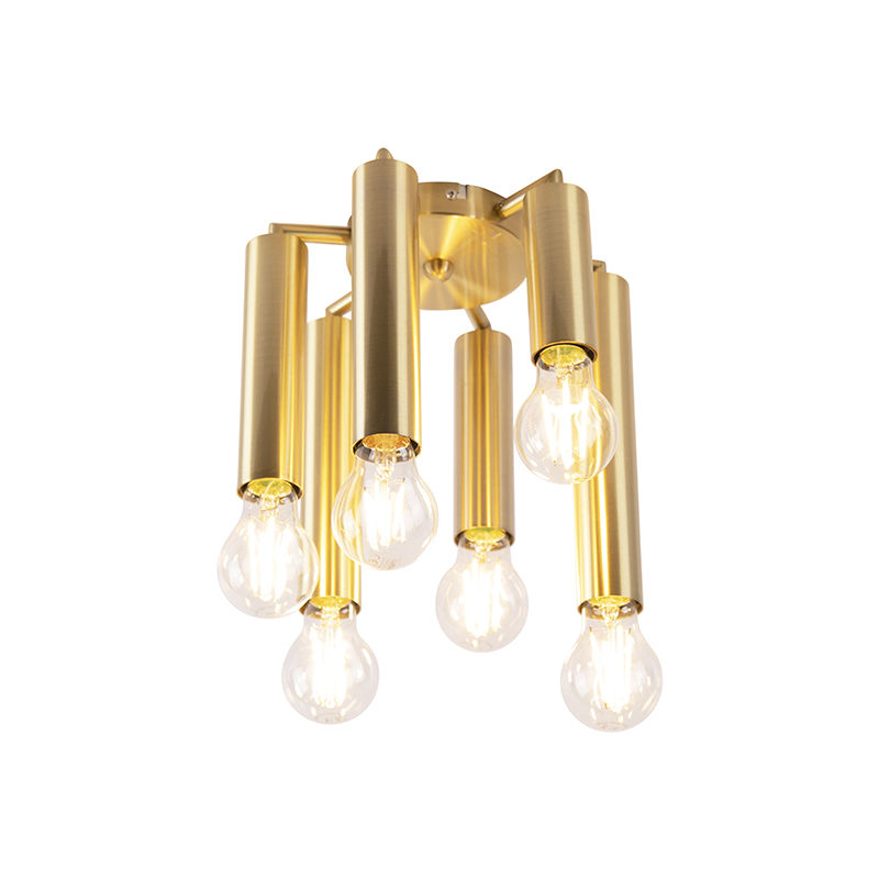 Art Deco Deckenleuchte Gold 6-Licht -Facil - QAZQA
