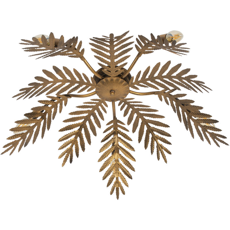 Qazqa - Vintage Deckenleuchte 5-flammig Gold - Botanica