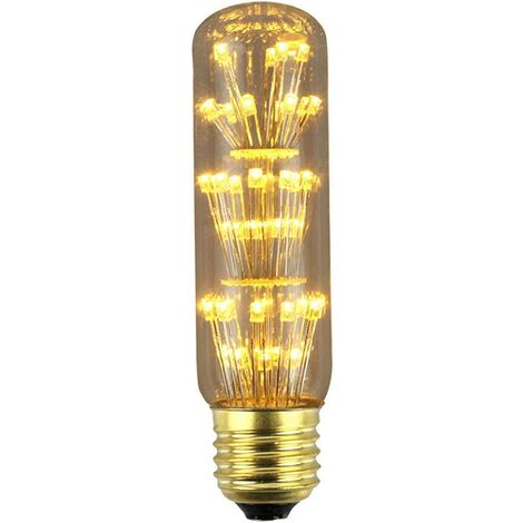 Vintage Firework LED Bulbs 3W E27 Standard Medium Base Edison with Starry Decorative for Bar, Wedding, Christmas, Warm White 2300K