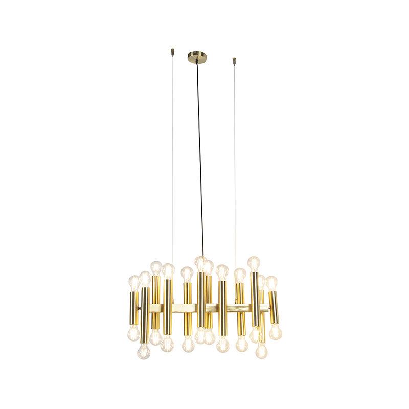 Qazqa - Art Deco Hängelampe Gold 24-Licht - Facil