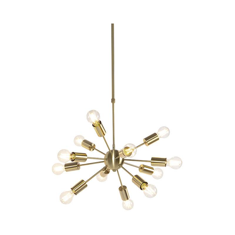 Art Deco Hängelampe Gold 60 cm 12-Licht verstellbar - Facil - QAZQA