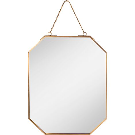 "main image of ""Vintage Hanging Mirror Gold | M&W - Gold"""