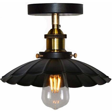 "main image of ""Vintage Industrial Ceiling Light Iron Metal Chandelier Retro Ceiling Lamp E27 for Loft Bar (Black)"""