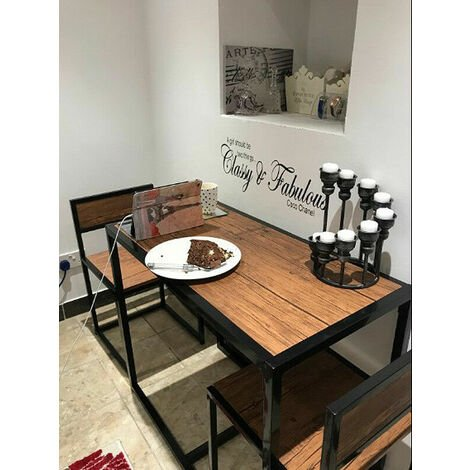 Dining Table Small Metal Furniture Set