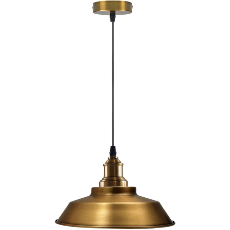 "main image of ""vintage industrial metal ceiling pendant shade retro light"""