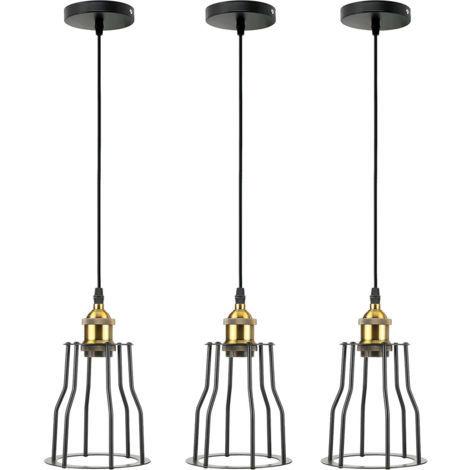 "main image of ""Vintage Industrial Modern Retro Loft Cage Ceiling Lamp Cage Pendant Lights"""