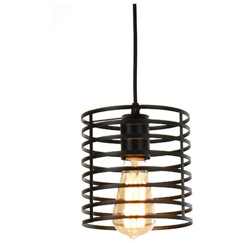 Vintage Industrielle Luminaires Plafonnier Fer Art Métal Loft Cage Lampe Suspendue Réglable pour Cuisine,Bar,Salon