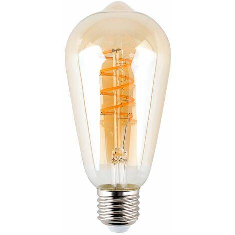 Vintage LED 4W ES E27 Amber Helix Filament Light Bulb