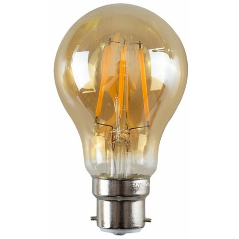 Vintage LED Bulbs Filament B22 Lightbulb Lamp Amber A+