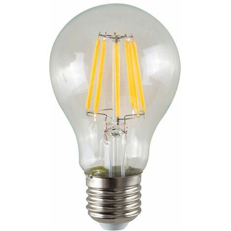 Vintage LED Bulbs Filament GLS E27 8W Lightbulb Lamp Amber A+ - Pack of 5 - Clear