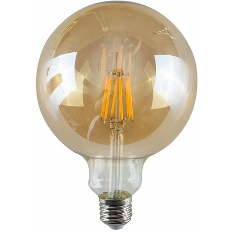 Vintage LED Bulbs Giant Globe Lightbulb Lamp Amber A+ - Pair - Amber