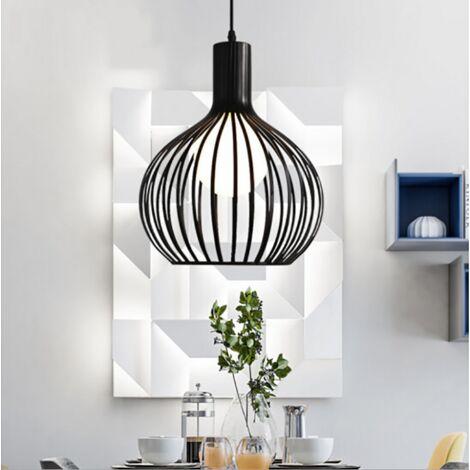 Vintage Modern Hanging Light Black Industrial Ceiling Light Retro Pendant Light E27 Antique Chandelier for Cafe Bedroom Kitchen Living Room Living Room