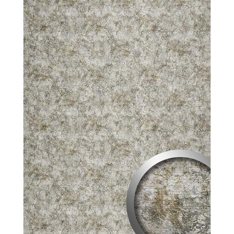 VINTAGE Panneau mural autoadhésif de luxe WallFace 17269 Dessin cuire Vintage Revêtement mural argenté gris 2,60 m2