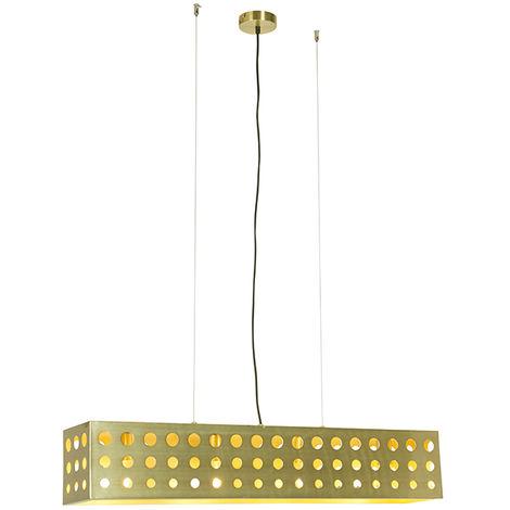 Vintage Pendant Lamp Gold 4 - Cage 70's