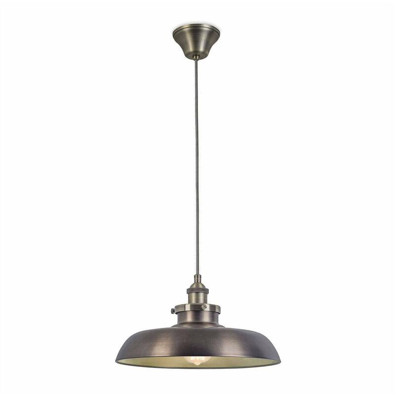 05-leds C4 - Vintage Pendelleuchte, Stahl und Glas, Bronze